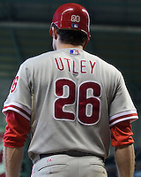 Utley, Chase 6307.jpg Philadelphia Phillies at Houston Astros. Major League Baseball. September 6th, 2009 at Minute Maid Park in Houston, Texas. Photo by Andrew Woolley.