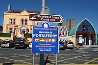 Portaferry, Co Down, N Ireland, UK, port, harbour, marina, signage, 201208180550..Copyright Image from Victor Patterson, 54 Dorchester Park, Belfast, UK, BT9 6RJ..Tel: +44 28 9066 1296.Mob: +44 7802 353836.Voicemail +44 20 8816 7153.Skype: victorpattersonbelfast.Email: victorpatterson@me.com.Email: victorpatterson@ireland.com (back-up)..IMPORTANT: If you wish to use this image or any other of my images please go to www.victorpatterson.com and click on the Terms & Conditions. Then contact me by email or phone with the reference number(s) of the image(s) concerned.