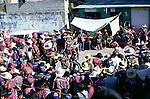 Solola fiesta, Guatemala, central America. Dancers wear masks of Spanish colonisers.