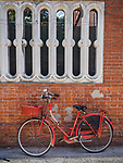 Red bicycle, Ravenna, Italy