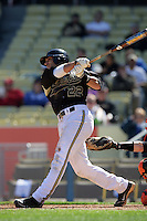 February 28 2010: Jason Esposito of Vanderbilt  during game against Oklahoma State at Dodger Stadium in Los Angeles,CA.  Photo by Larry Goren/Four Seam Images