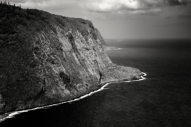 The coastline at Hawaii, The Big Island.