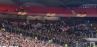 FUSSBALL   INTERNATIONAL   UEFA EUROPA LEAGUE   SAISON 2012/2013    Achtelfinale Hinspiel VfB Stuttgart - Lazio Rom      07.03.2013 Lazio Fans im Gaestefanblock der Mercedes Benz Arena ohne Banner, Fahnen und Plakaten in der 2. Halbzeit