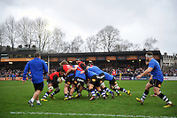 A general view of the pre-match warm-up. Aviva Premiership match, between Bath Rugby and Worcester Warriors on December 27, 2015 at the Recreation Ground in Bath, England. Photo by: Patrick Khachfe / Onside Images