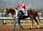 ARCADIA, CA: October 05: #2 Omaha Beach and Mike Smith after their win in Grade I Santa Anita Sprint Championship Stakes at Santa Anita Park on October 05, 2019 in Arcadia, California (Photo by Chris Crestik/Eclipse Sportswire)