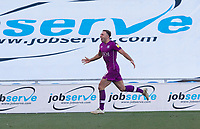 Hallam Hope of Carlisle United celebrates his opening goal for the visitors during Colchester United vs Carlisle United, Sky Bet EFL League 2 Football at the JobServe Community Stadium on 23rd February 2019