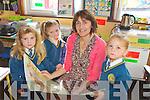 Elizabeth Lane with Junior Infants Jan-Eve Browne, Fiona McSweeney and Cornelia Mangan who began their school journey last Thursday in Loughfrouder NS.