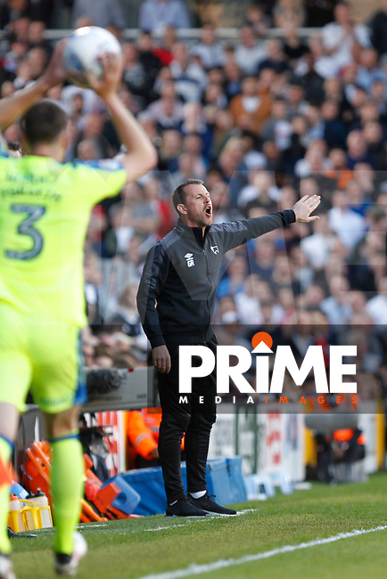 Derby County manager, Gary Rowett during the Sky Bet Championship play off semi final 2nd leg match between Fulham and Derby County at Craven Cottage, London, England on 15 May 2018. Photo by Carlton Myrie / PRiME Media Images.