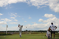 Chez Reavie (USA) watches his tee shot on 7 during Sunday's round 4 of the 117th U.S. Open, at Erin Hills, Erin, Wisconsin. 6/18/2017.<br /> Picture: Golffile | Ken Murray<br /> <br /> <br /> All photo usage must carry mandatory copyright credit (&copy; Golffile | Ken Murray)