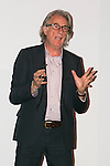 British fashion designer Sir Paul Smith speaks to students of Waseda University on October 5, 2015, Tokyo, Japan. The Paul Smith brand is hugely popular in Japan, which is its biggest international market, and thousands of students could not enter the full capacity lecture hall to listen the designer. Sir Paul ended up speaking twice to give those who couldn't enter the first lecture a chance to participate. (Photo by Rodrigo Reyes Marin/AFLO)