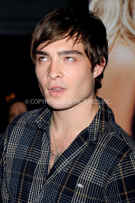 "WWW.ACEPIXS.COM . . . . .....July 28, 2008. New York City.....Actor Ed Westwick attends the 'Sisterhood of the Traveling Pants 2"" premiere held at the Ziegfeld Theatre on July 28, 2008 in New York...  ....Please byline: Kristin Callahan - ACEPIXS.COM..... *** ***..Ace Pictures, Inc:  ..Philip Vaughan (646) 769 0430..e-mail: info@acepixs.com..web: http://www.acepixs.com"