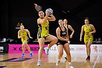 Central Manawa&rsquo;s Renee Savai&rsquo;inaea in action during the Beko Netball League - Central Manawa v Waikato Bay of Plenty at TSB Bank Arena, Wellington, New Zealand on Sunday 21 April 2019. <br /> Photo by Masanori Udagawa. <br /> www.photowellington.photoshelter.com