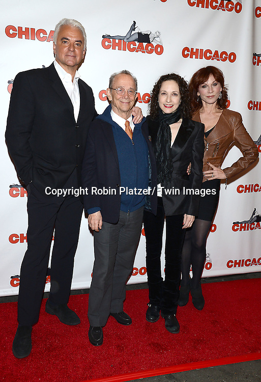 "John O'Hurley, Joel Grey, Bebe Neuwirth and Marilu Henner attends ""Chicago""  becoming the 2nd Longest Running Show on Broadway at performance 7486 on November 23, 2014 at the Ambassodor Theatre in New York City."