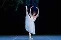"London, UK. 26.01.2020. Ballerina, Yasmine Naghdi, rehearses for ""Giselle"", in the Ballet Icons Gala 2020, at the London Coliseum. Photograph © Jane Hobson."