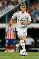 13.09.2014 SPAIN -  La Liga 14/15 Matchday 03th  match played between Real Madrid CF vs Atletico de Madrid Bernabeu stadium. The picture show Toni Kroos (Germany midfielder of Real Madrid)