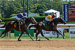 July 31, 2020: Vincero, #5 ridden by jockey David Cohen wins a claiming race on July 31 at Saratoga Race Course in Saratoga, New York. Rob Simmons/Eclipse Sportswire/CSM
