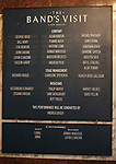 Lobby cast Board for Samson Gabay joining the cast of 'The Band's Visit'  at the Barrymore Theatre on June 27, 2018 in New York City.