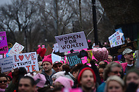 Washington, DC - January 21, 2017: Hundreds of thousands of people participate in the Women's March on Washington, January 21, 2017, to oppose the policies of President Donald Trump and support equal rights.  (Photo by Don Baxter/Media Images International)