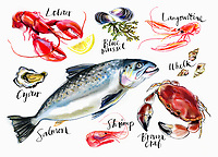 Variation of seafood