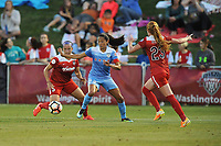 Boyds, MD -Saturday August 26, 2017: Whitney Church, Christen Press, Tori Huster during a regular season National Women's Soccer League (NWSL) match between the Washington Spirit and the Chicago Red Stars at Maureen Hendricks Field, Maryland SoccerPlex.