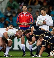 Rugby World Cup Auckland England v Scotland  Pool B 01/10/2011.  Opposing scrums England v Scotland  .Photo  Frey Fotosports International/AMN Images