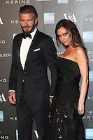 David and Victoria Beckham arriving for the Alexander McQueen: Savage Beauty Fashion Gala at the V&A, London. 12/03/2015 Picture by: Alexandra Glen / Featureflash