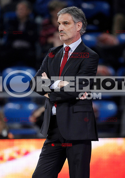CAI Zaragoza's coach Jose Luis Abos during Spanish Basketball King's Cup match.February 07,2013. (ALTERPHOTOS/Acero)