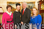 Pictured at the launch of the Sliabh a Mhadra Fundraising Fashion Show taking place in Ballyroe Heights Hotel on Friday 22nd February l-r: Norma O'Carroll, Norma O'Donoghue (Norma O'Donoghue Model Agency) Mark Sullivan (Manager of Ballyroe Heights Hotel) and Nessa Donegan..