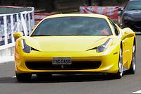 RIO DE JANEIRO; RJ; 10 DE MARÇO 2013 - Carro Ferrari envolvido nos atropelamentos no Aterro do Flamengo durante o evento TNT Street Race. FOTO: NÉSTOR J. BEREMBLUM - BRAZIL PHOTO PRESS.
