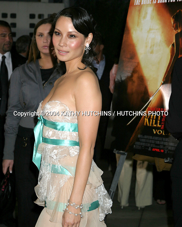 "©2004 KATHY HUTCHINS /HUTCHINS PHOTO.PREMIERE OF ""KILL BILL, VOL 2"".LOS ANGELES, CA.APRIL 8, 2004..LUCY LIU"