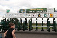 Race fans enjoy Spiral Stakes Day at Turfway Park in Florence, Kentucky on Saturday March 24th, 2012.