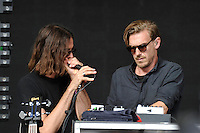 LONDON, ENGLAND - JULY 16: Andrew Wyatt and Pontus Winnberg of 'Mike Snow' performing at Lovebox, Victoria Park on July 16, 2016 in London, England.<br /> CAP/MAR<br /> &copy;MAR/Capital Pictures /MediaPunch ***NORTH AND SOUTH AMERICAS ONLY***