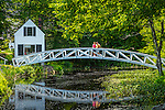 The moon bridge in Somesville, Maine, USA