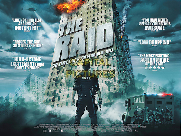 UK POSTER ART.in The Raid: Redemption (Serbuan maut).*Filmstill - Editorial Use Only*.CAP/NFS.Supplied by Capital Pictures.