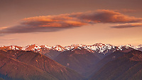 Sunset over the Olympic mountain range, Olympic National Park