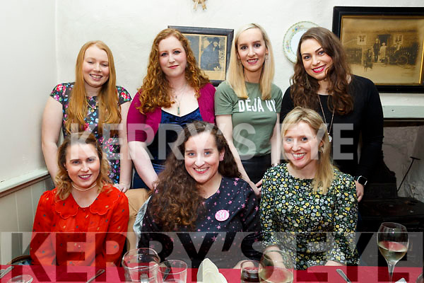 Gemma O&rsquo;Connell from The Kerries, seated centre, celebrating her 30th birthday with friends in Cassidys on Saturday night last.  <br /> Seated l-r, Corina Slattery, Gemma O&rsquo;Connell and Marie Clare Healy.<br /> Standing l-r, Ciara Rogers, Carol Hickson, Ciara Curtain and Olivia O&rsquo;Shea.