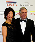 Les Moonves and Julie Chen arrive for the formal Artist's Dinner honoring the recipients of the 2012 Kennedy Center Honors hosted by United States Secretary of State Hillary Rodham Clinton at the U.S. Department of State in Washington, D.C. on Saturday, December 1, 2012. The 2012 honorees are Buddy Guy, actor Dustin Hoffman, late-night host David Letterman, dancer Natalia Makarova, and the British rock band Led Zeppelin (Robert Plant, Jimmy Page, and John Paul Jones)..Credit: Ron Sachs / CNP