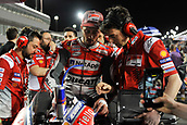 18th March 2018, Losail International Circuit, Lusail, Qatar; Qatar Motorcycle Grand Prix, Sunday race day; Andrea Dovizioso (Ducati) speaks to his crew on the grid