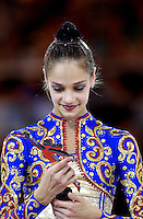 October 21, 2001; Madrid, Spain:  IRINA TCHACHINA of Russia receives Longines Prize for Elegance at 2001 World Championships at Madrid.