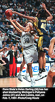 penn state's helen darling big ten basketball michigan's pollyana johns ann lemire