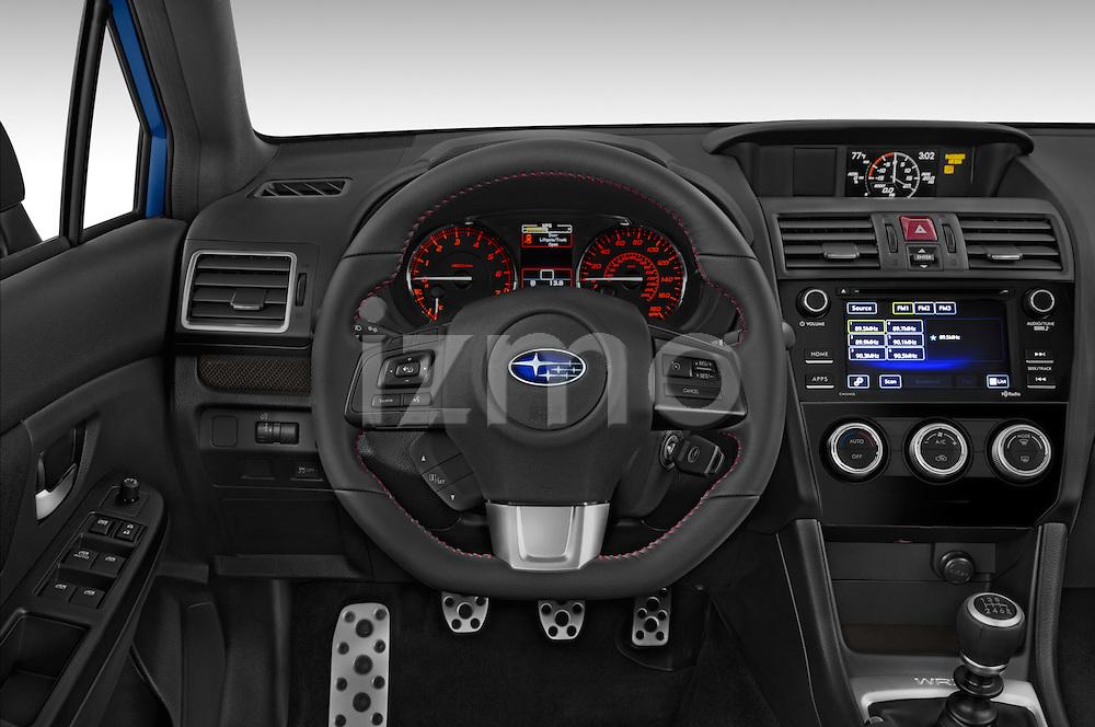 Car pictures of steering wheel view of a 2017 Subaru WRX 2 4 Door Sedan Steering Wheel