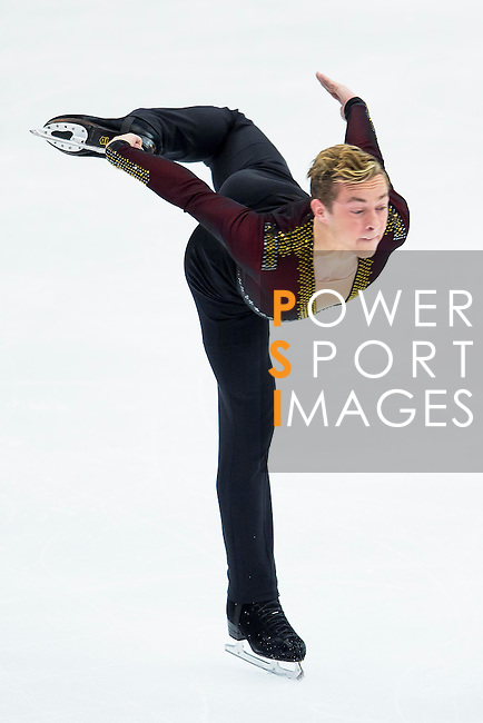 TAIPEI, TAIWAN - JANUARY 22:  Adam Rippon of USA competes in the Men Short Program event during the Four Continents Figure Skating Championships on January 22, 2014 in Taipei, Taiwan.  Photo by Victor Fraile / Power Sport Images *** Local Caption *** Adam Rippon