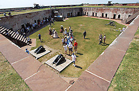 Fort Macon///Fort Macon throughout the years has experianced a growth of visitors after a major refurbisment. PHOTO BY CHUCK BECKLEY