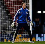 Anders Lindegaard of Denmark during the Vauxhall International Challenge Match match at Hampden Park Stadium. Photo credit should read: Simon Bellis/Sportimage
