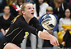 Grace Riddle #6 of Wantagh makes a set during her team's 3-2 victory over Kings Park in the girls volleyball Class A Long Island Championship at Farmingdale State College on Sunday, Nov. 11, 2018. The Warriors rallied from an 0-2 set deficit to win.