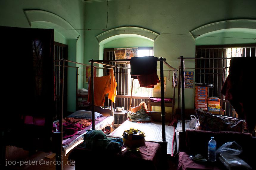 sleeping rom in monastery close to Mahamuni pagoda  ,Mandalay, Myanmar, 2011