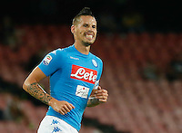 Marek Hamsik  during the  italian serie a soccer match,between SSC Napoli and   Bologna FC    at  the San  Paolo   stadium in Naples  Italy , September 18, 2016