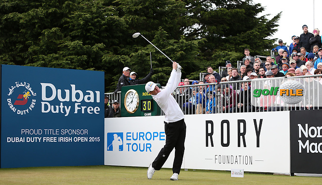 Matt Ford (ENG) on the first tee for Round Three of the 2015 Dubai Duty Free Irish Open Hosted by The Rory Foundation at Royal County Down Golf Club, Newcastle County Down, Northern Ireland. 30/05/2015. Picture David Lloyd | www.golffile.ie