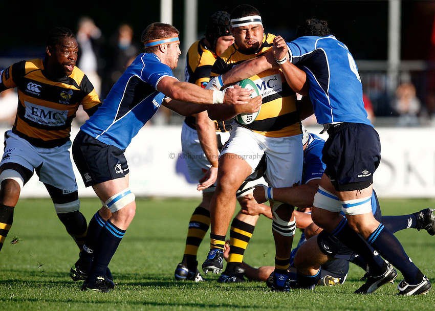 Photo: Richard Lane/Richard Lane Photography. Leinster v London Wasps. Pre Season Friendly. 20/08/2010. Wasps' Zak Taulafo attacks.