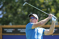Ryan Fox (NZL) tees off the 8th tee during Saturday's Round 3 of the 2018 Omega European Masters, held at the Golf Club Crans-Sur-Sierre, Crans Montana, Switzerland. 8th September 2018.<br /> Picture: Eoin Clarke | Golffile<br /> <br /> <br /> All photos usage must carry mandatory copyright credit (&copy; Golffile | Eoin Clarke)